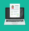 personal interview online with skills data vector image vector image