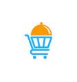 shop food logo icon design vector image