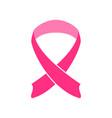 simple shape pink ribbon vector image