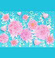 spring background pink flowers vector image vector image