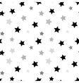 Stars seamless pattern white 3D vector image vector image