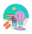 summer colorful travelling vector image vector image