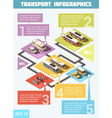 Transport Infographic Set vector image vector image