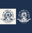 vintage sea monochrome badge vector image vector image