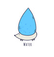 water element character isolated on white vector image vector image