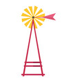 wind water pump isolated flat vector image