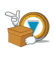 with box verge coin character cartoon vector image vector image