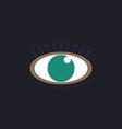 Eye computer symbol vector image