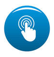 hand cursor web icon blue vector image
