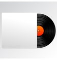 Vinyl disk with blank cover vector image