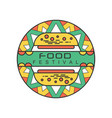 abstract logo template for food festival colorful vector image vector image