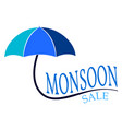 abstract monsoon sale vector image
