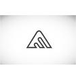 Alphabet letter A line art logo icon design vector image vector image