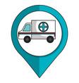 ambulance emergency car icon vector image