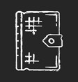 ancient book chalk white icon on black background vector image