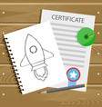 beginning learn college graduation and education vector image