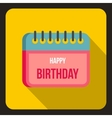 Birthday calendar icon flat style vector image