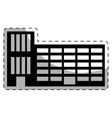 black city school building line sticker vector image vector image