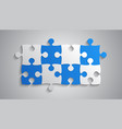 blue grey piece puzzle rectangle banner puzzle vector image vector image
