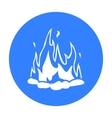Bonfire icon black Singe western icon from the vector image vector image