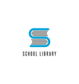 Book logo store library read club S letter icon vector image vector image
