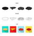 burger and sandwich logo vector image vector image