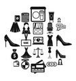 business development icons set simple style vector image