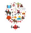 canadian national cultural symbols vector image vector image