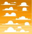 cartoon cloud template set dark sunset collection vector image vector image