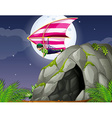 Cave and hanggliding vector image