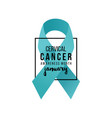 cervical cancer support ribbon vector image vector image
