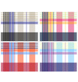 check pattern collection vector image vector image
