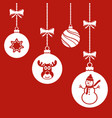 christmas balls hanging ornament vector image