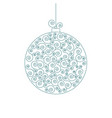 christmas decorative swirl ball isolated vector image vector image