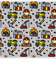 coal mining seamless pattern vector image