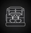 coffee machine cartoon theme vector image vector image