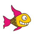 color silhouette of fish with long fins vector image vector image