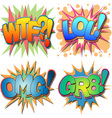 Comic Book Abbreviations vector image vector image