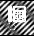 communication or phone sign icon hole in vector image vector image
