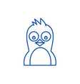 cute penguin line icon concept cute penguin flat vector image vector image