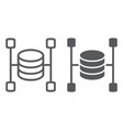 data warehouse line and glyph icon vector image vector image