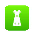 dress icon digital green vector image