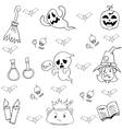 Element halloween ghost in doodle vector image vector image