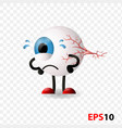 eye eyeball human internal vision organ vector image vector image