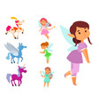 fairies princess fairy girl character cute vector image vector image