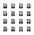file type icons - graphics vector image vector image