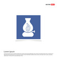 flame fire icon - blue photo frame vector image
