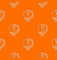 globe pattern orange vector image vector image