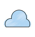 grated cute natural cloud weather in the sky vector image vector image