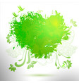green ecology hand drawing watercolor vector image vector image